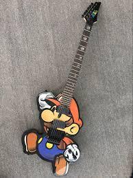 Guitar Design Custom Guitar 6 String Electric Guitar Super Mario Body Design With Floyd Rose Bridges Bolt On Neck Custom Guitar Shop Best Acoustic Electric Guitars
