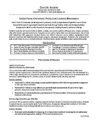 Resume Examples For Military Interesting Logistics Resume Example Operations Production Military