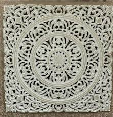 carved wooden wall panel fretwork white