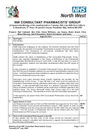 Pharmacist Consultant Nw Consultant Pharmacists Group Meeting Minutes 28 7 09 Pdf