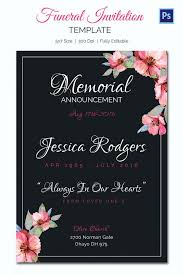 Funeral Invitation Template New Obituary Card Template Eulogy Funeral Invitation Templates Free