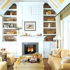 bookshelves next to fireplace built fireplace shelf ideas
