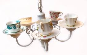 Decorating With Teacups And Saucers A potentially simple decoration go to Op shops and get old cups 95