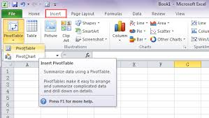 Pivot Table Chart Excel 2016 Where Are Pivot Table And Pivotchart Wizard In Excel 2007