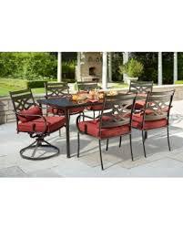 7 piece patio dining set. Hampton Bay Middletown 7-Piece Patio Dining Set With Chili Cushions 7 Piece N