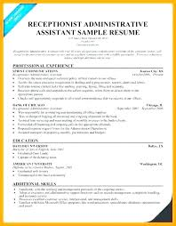 Front Desk Receptionist Sample Resume Duties Of A For Job Example Beauteous Receptionist Duties Resume