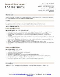 Research Resume Samples Research Interviewer Resume Samples Qwikresume