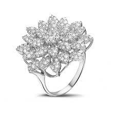 Flower Design Diamond Ring 1 35 Carat Diamond Flower Ring In White Gold