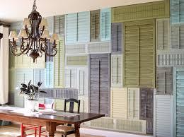 Ideen Für Wandgestaltung Mit Alten Fensterläden Freshouse