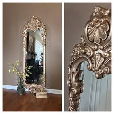 stunning ornate gold wall mirror