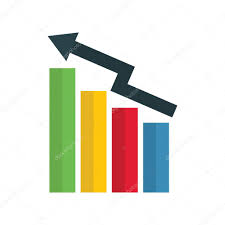 Stock Chart Up Chart Up Icon For Business And Finance Stock Vector