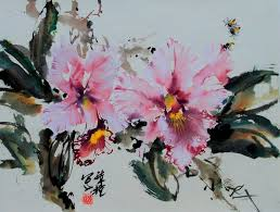 lian quan zhen orchid chinese painting spontaneous style