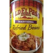 old el paso refried beans traditional nutrition