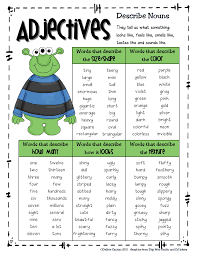 Adjectives Chart Pdf Adjective_word Bank Pdf Big Green Monster Adjective Words