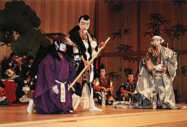 kabuki theater costumes. a production of kanjincho by children - note, though, the similar costumes as well stage assistants kabuki theater .