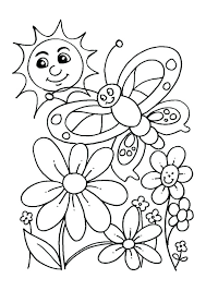 Free Spring Coloring Pages For Kindergarten Printable Preschool Kids