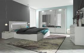 Komplett Schlafzimmer Panarea In Hochglanz Weiß Mit Spiegel Und Led
