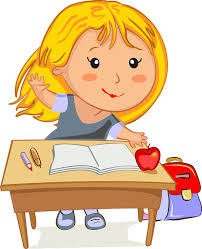 Image result for cartoon character  going school