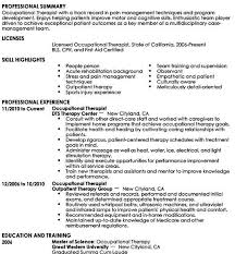 Therapist Resume Template Occupational Therapy Resume Template Download Tips To Get Hired