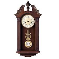 wall clocks ridgedale chiming wall clock bulova c4437