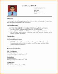 Best Solutions Of Sample Resume For Freshers B Graduate Doc