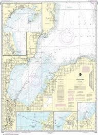 Noaa Nautical Chart 14863 Saginaw Bay Port Austin Harbor Caseville Harbor Entrance To Au Sable River Sebewaing Harbor Tawas Harbor