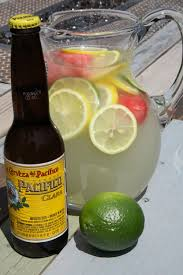 so off i went to my grocery to lemonade limes lemons and an orange and of course a six pack of my favorite beer too