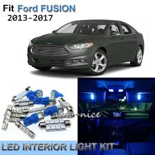 2013 Ford Fusion Interior Light Kit 8x Premium Blue Led Interior Lights Kit For 2013 2017 Ford Fusion