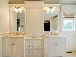 Unique Master Bathroom Cabinets Ideas Cabinet Pedestal Broken White In Design Decorating