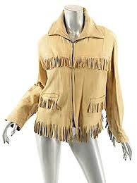 best slim beige western 100 pebble zip w fringe handmade us