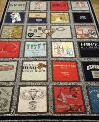 Custom Tshirt quilt. T-shirt quilt made out of 9-49 tees. & Like this item? Adamdwight.com