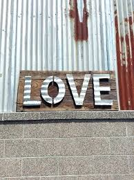 reclaimed corrugated metal handmade sign using vintage reclaimed barn wood with naturally aged patina corrugated metal
