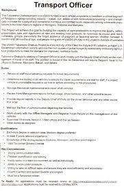 Logistics Officer Job Description Transport Officer TAYOA Employment Portal 1