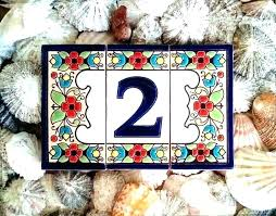 ceramic tile address tiles unique house numbers ideas on letter from italian number