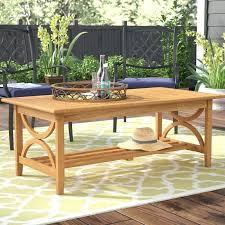 teak coffee table wood round birch lane