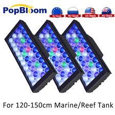 150cm Aquarium Light Us 370 1 31 Off Dimmable Led Aquarium Lights For 150cm Marine Coral Reef Sps Lps With Smart Fan Sunrise Sunset Aquarium Led Lamp Moonlight In