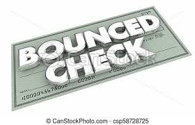 Bounced Check Insufficient Funds Bad Payment 3d Illustration