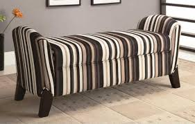 Living Room Bench Living Room Storage Bench With Brown Striped Pattern Ideas Home
