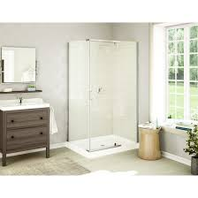 tub surround shower stalls home depot fiberglass bathtub combo with seat sterling by kohler pan