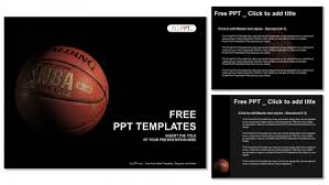 Basketball Powerpoint Template Free A Basketball With A Dark Background Powerpoint Templates