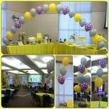 Lavender Baby Shower Decorations Babyshower Polkadot Theme Lavender Yellow Polkadot W Grey String