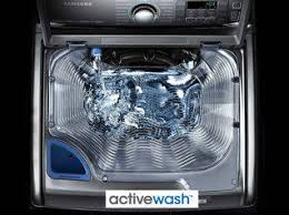 samsung washing machine with sink. designed to make doing laundry easier, this samsung top load washer features patented activewash™ which allows you pre-treat your clothes with care. washing machine sink