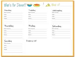 Diabetic Meal Planner Free Dinner Meal Planner Template Monthly Meal Plan Template