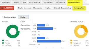 Google Adwords Graphs For Demographic Reporting Graphs