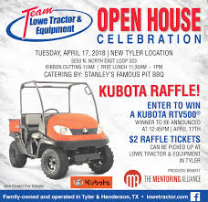 lowe tractor equipmentcelebrationtuesday april 17 2018 new tyler location3250 n north east loop