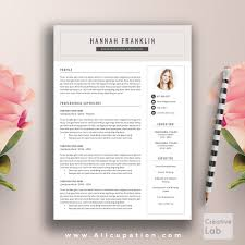 creative resume template cover letter word modern simple allcupation professional resume template cv template 1 2 and 3 page resume