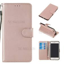 pure color leather wallet stand cell phone case cover for iphone 6 6s 4 7