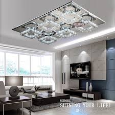 best quality modern led crystal light square surface mounted lamp inside modern light fixture ideas