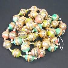 glass bead garland mercury pastel stripes tap to expand vintage glass bead garland decor new antique time