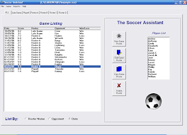 Soccer Football Assistant Free Team Roster Software